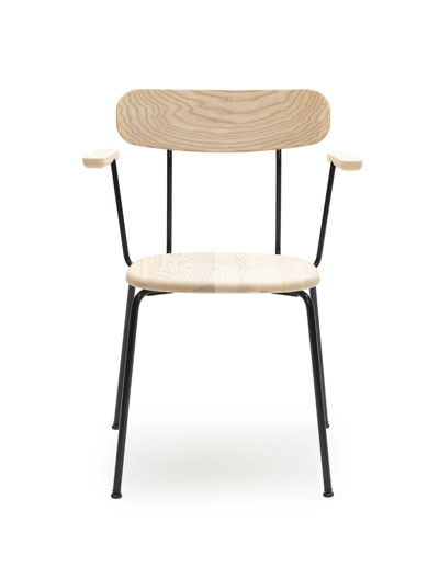 Tuttu-2/p chair with small arms